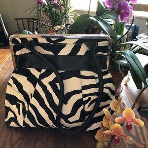 Bueno zebra print, faux leather purse